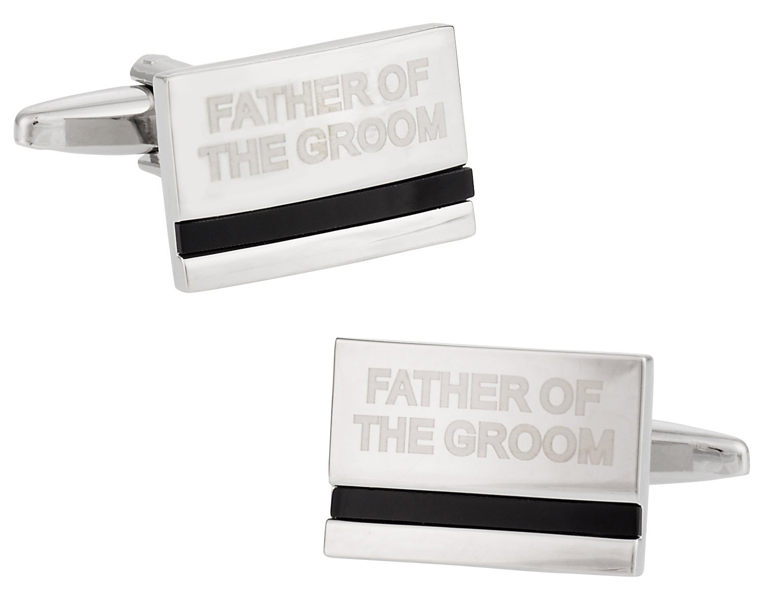 Cuff-Daddy Father of the Groom Cufflinks with Onyx Cuff Links with Presentation Box