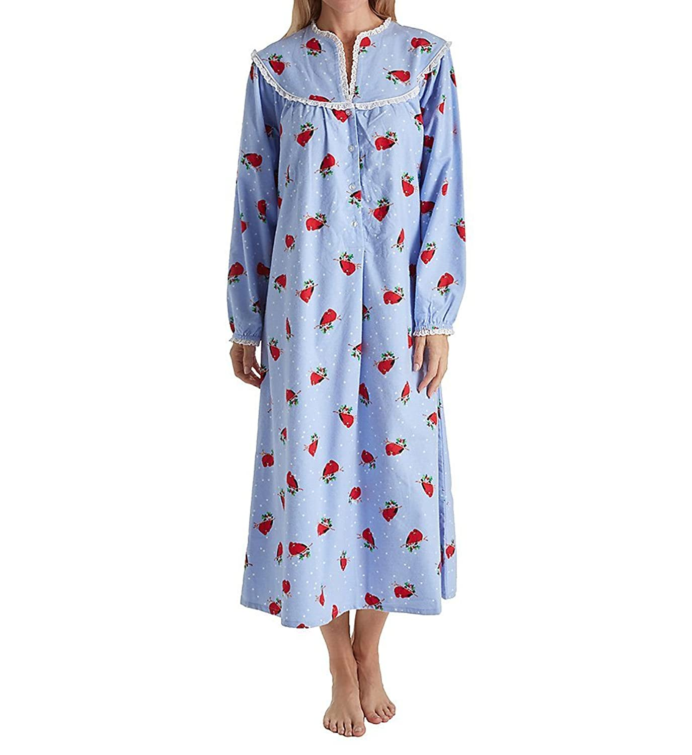 Lanz of Salzburg Long Sleeve Flannel Gown (5416828) [12BKch0102955 ...