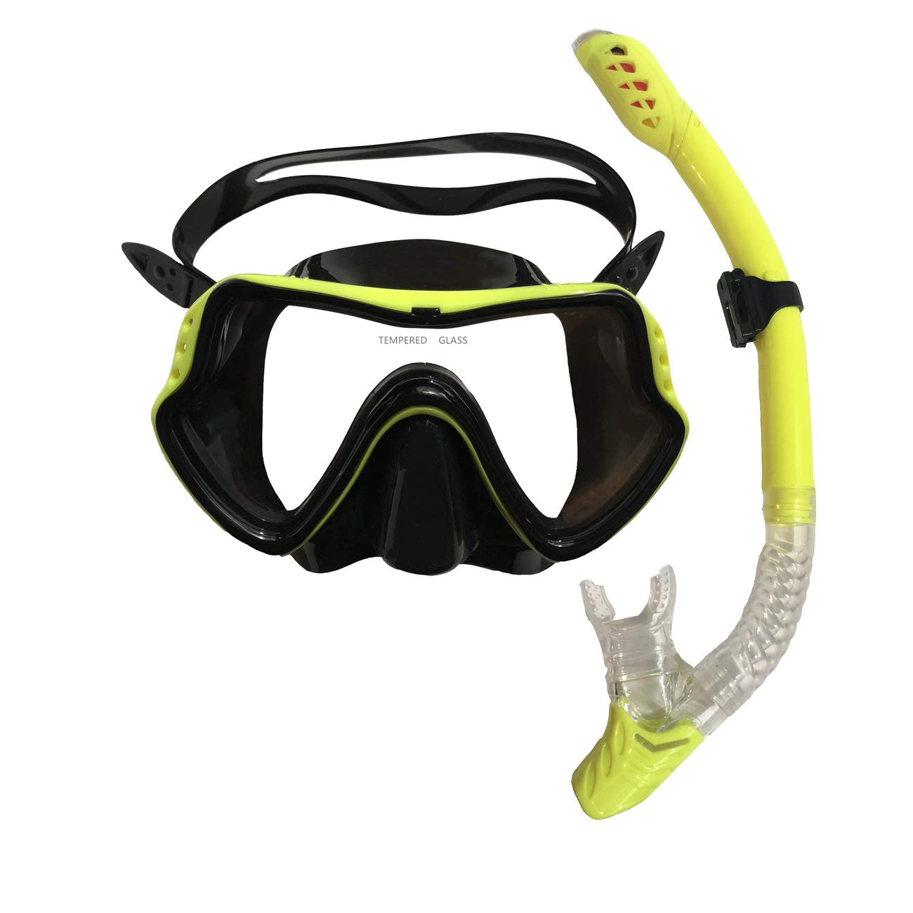 Cpsports Scuba Diving Snorkeling Freediving Mask Snorkel Set for Adult (black) by C.P. Sports