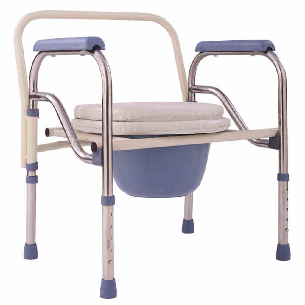 LXN 折りたたみ式トイレ椅子とトイレの椅子のバスルームのアンチスリップ調節可能な高さのバスルームシャワーのスツール高齢者/妊婦/障害者のトイレの椅子 B07DJYYSZF