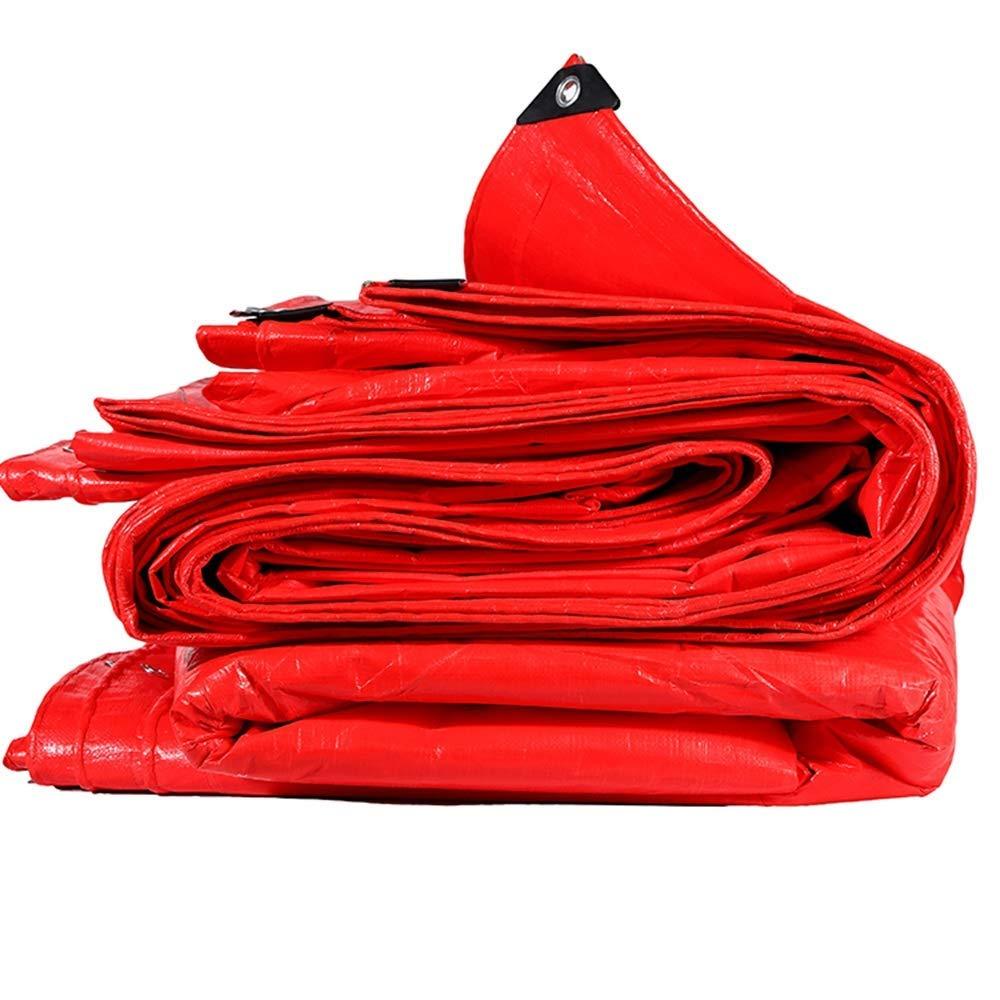 YHUJH Wasserdichte Plane, Starke rote regenfeste Sonnencreme Wasserdichte Sonnenschutz-Ausstellungs-Hochzeits-Baugerüst-Tuch (Größe   4  4m)