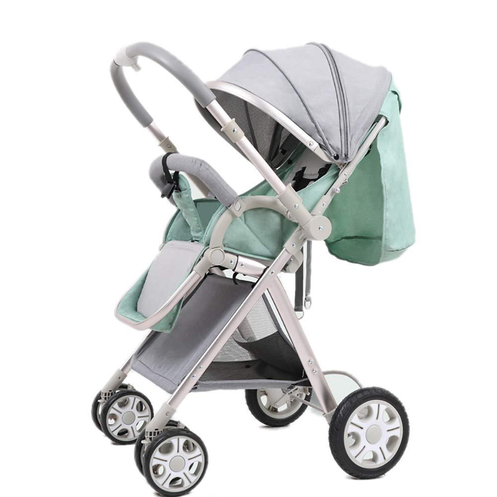 高地の赤ちゃんのベビーカーは Mint、可逆的な幼児を扱うバギーは Green、座って (2)、寝ることができますDownlightライトポータブル折り畳み式チャイルドカート (色 : Mint Green (2)) Mint Green (2) B07PZKJNMW, 結婚式グッズFantastic Wedding:20c9ba41 --- ijpba.info