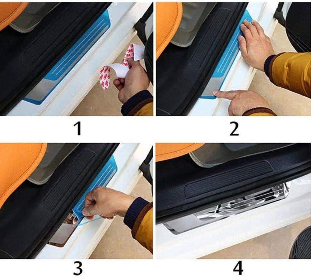 Seayahy 4 Pezzi per Tiguan 2016-2019 Acciaio Inox Battitacco,Protettore per Davanzale Portiera,Auto Pedaliera Protector Accessori,Threshold Bar Striscia Pedale dello Protezione Decorativi