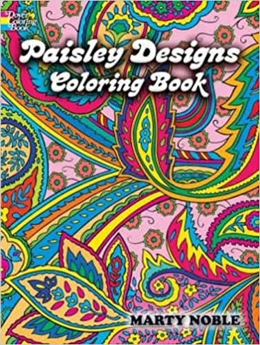 Paisley Designs Coloring Book Dover Design Books Marty Noble 9780486456423 Amazon