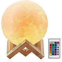 Lámpara Luna 3D, ManroGo 15CM Control Remoto