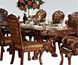 Pedestal Formal Dining Table in Brown Cherry Finish For Sale