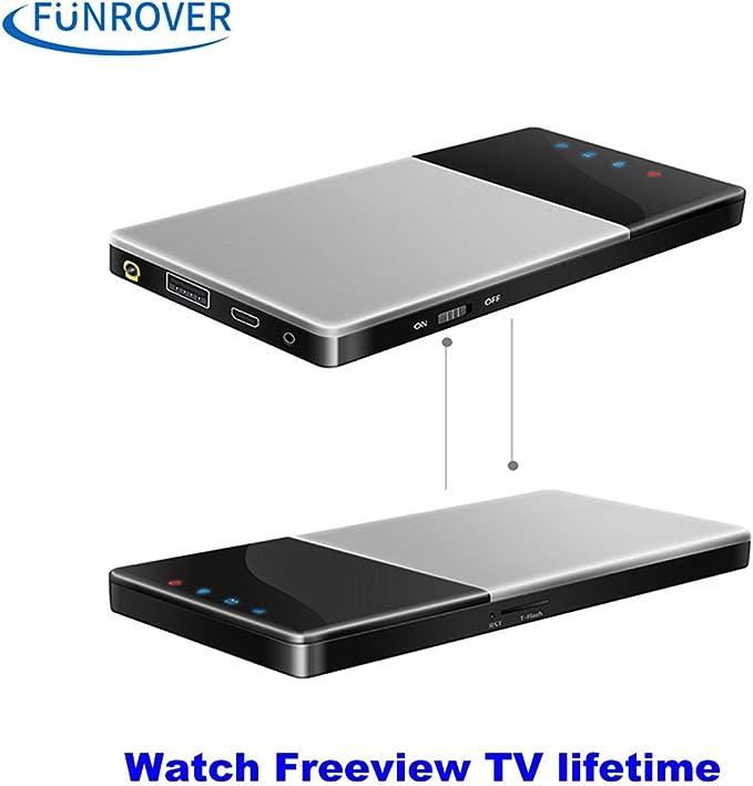 funrover WiFi TV Box DVB-T/T2 TV Digital HD para el coche/Home/al aire libre portátil IOS 10 Android 5.1 estéreo de radio de coche sintonizador de TDT ...