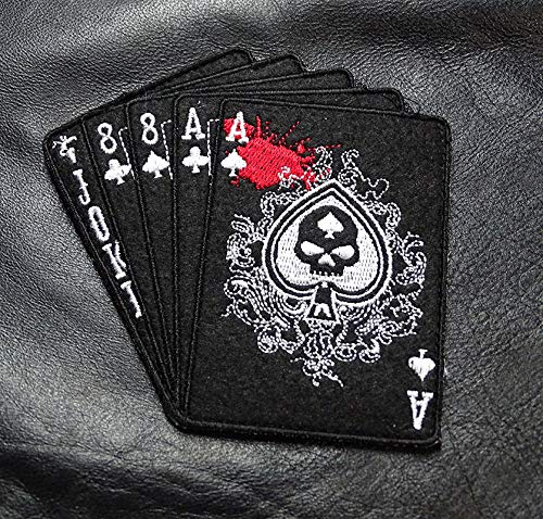 Deadman Hand Aces Spade Combat Morale Militia Gangster Outlaw Bandit Costume Apparel Hook Patch -