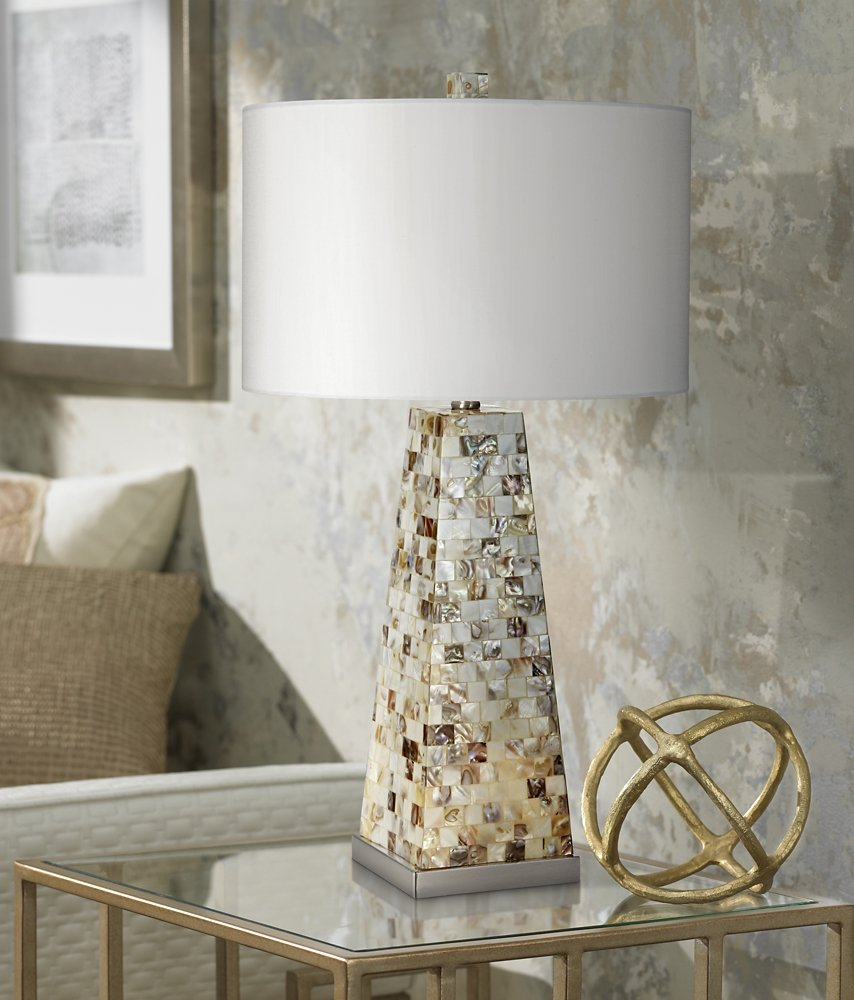 Lorin mother of pearl table lamp with night light amazon geotapseo Choice Image