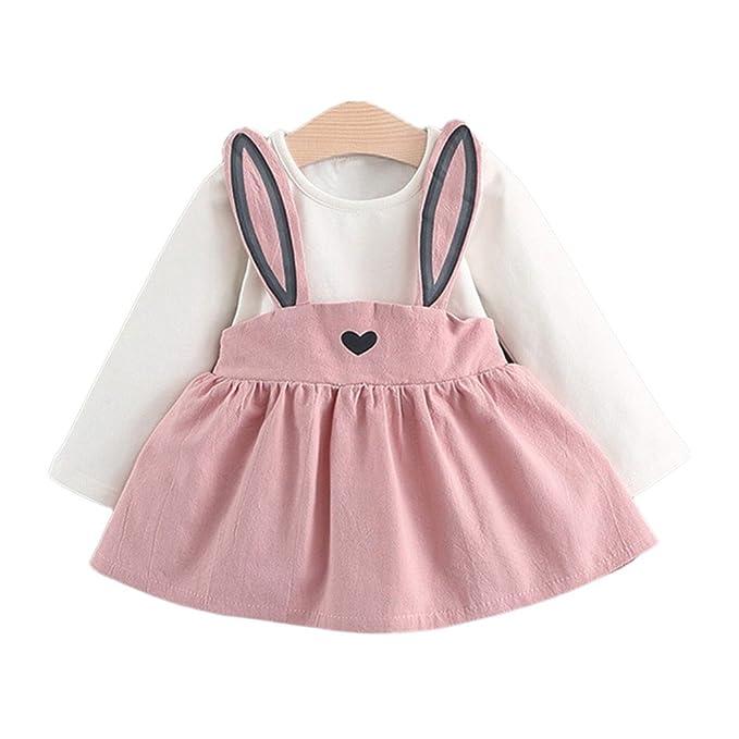 MIOIM Bebé Niña otoño Vestido conejo vendaje traje mini vestido Tutú ...