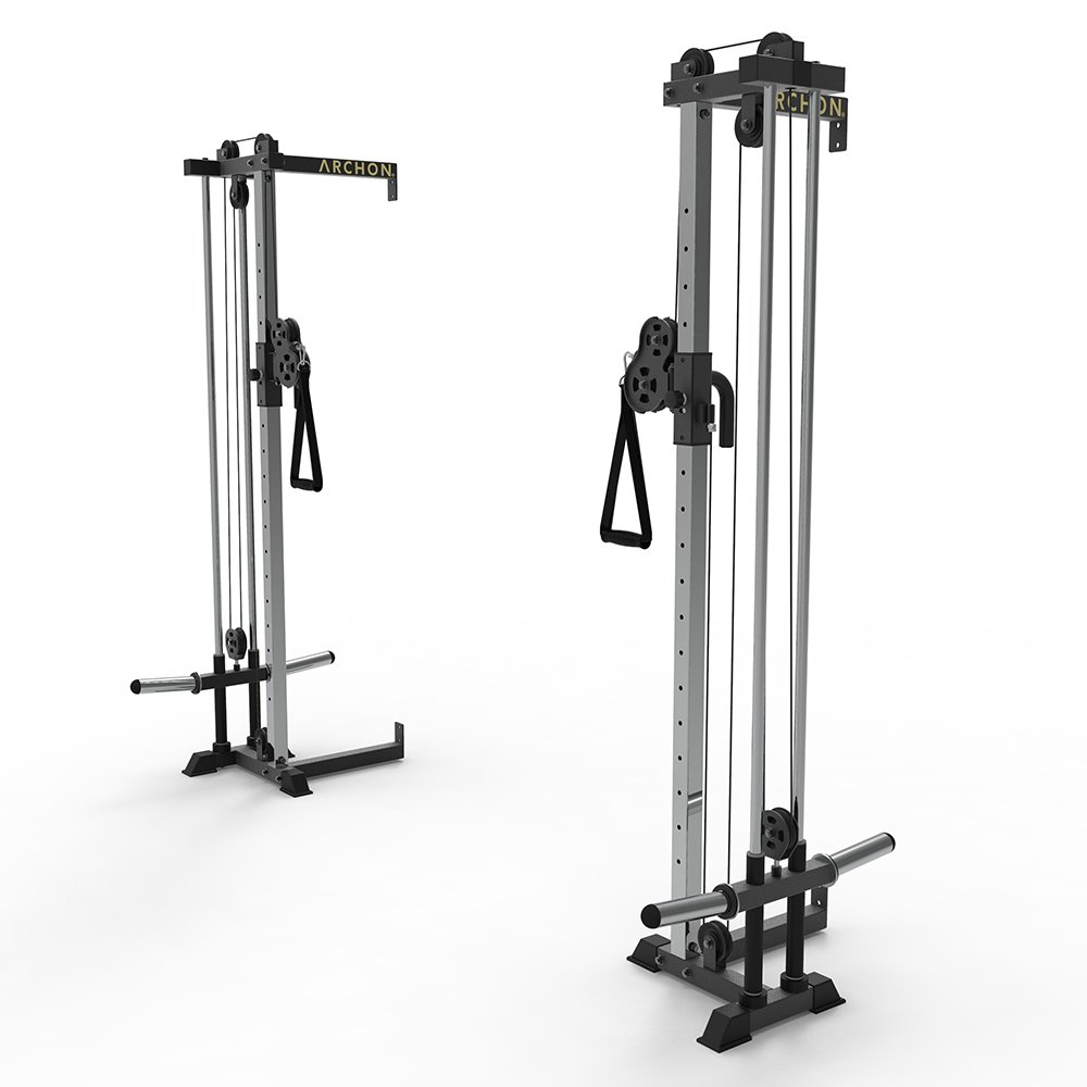 ARCHON Wall Mount Cable Crossover Commercial Ball Bearing Cable Station 19 Position Adjustable 180 Degree Pulleys Home Gym Equipment Cable Crossover Machine Weight Machine Cable Pulldown