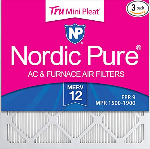 Nordic Pure 10x10x1 MERV 13 Pleated AC Furnace Air Filters 6 Pack