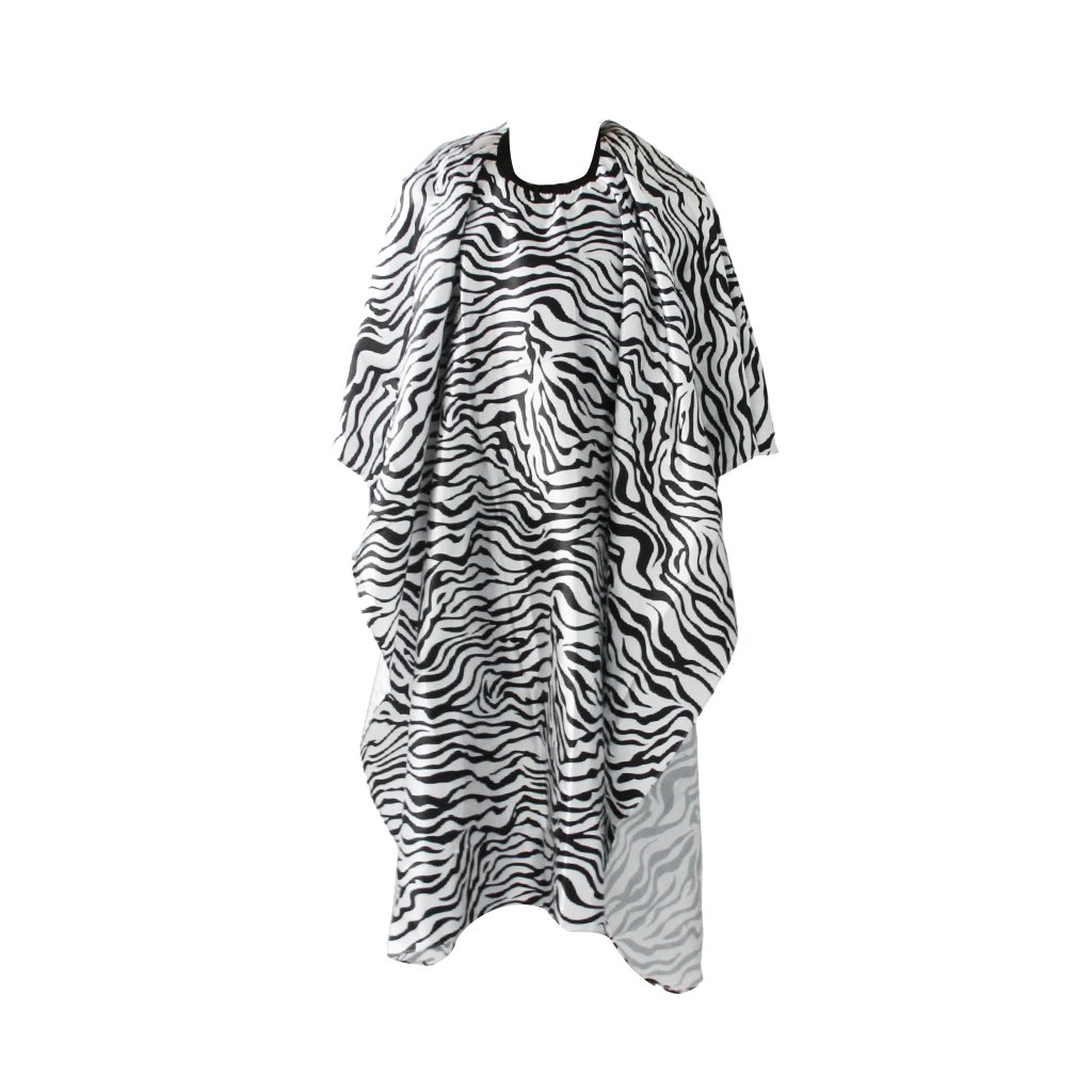 Barber Hair Beauty Salon Shampoo Style Cape Hairdressing Gown Zebra Print Generic