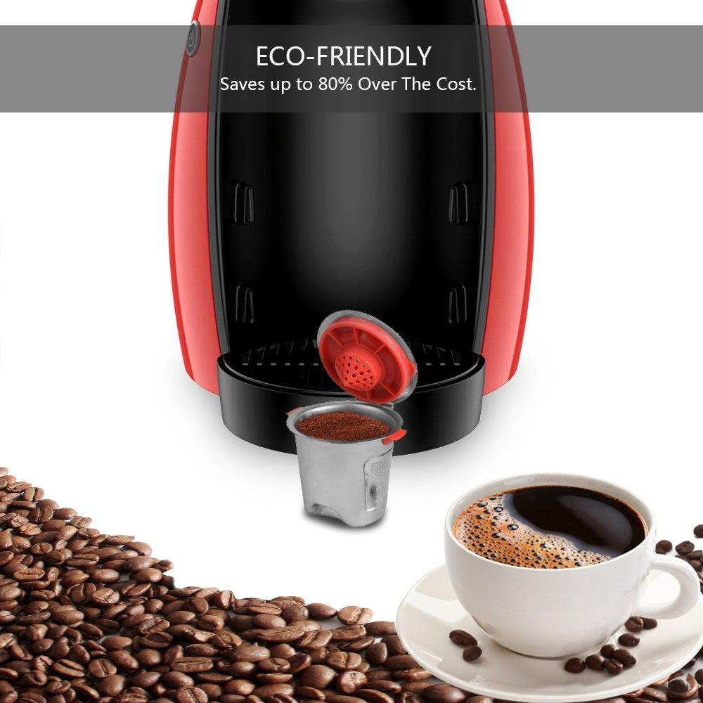 ourleeme 1/Edelstahl Kaffee Kapsel wiederverwendbar nachf/üllbar Kaffee Tasse f/ür Keurig K Tasse K/örbe k-cup Pod