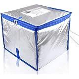 Bag Sito 宅配ボックス 収納ボックス クール便対応 保冷タイプ 大容量50リットル 個人宅 戸建て用箱 鍵・ワイヤー・印鑑用ポケット付