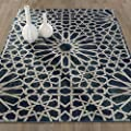 Ottomanson Authentic Collection Contemporary Geometric Trellis Pattern Design Kitchen Runner Rug