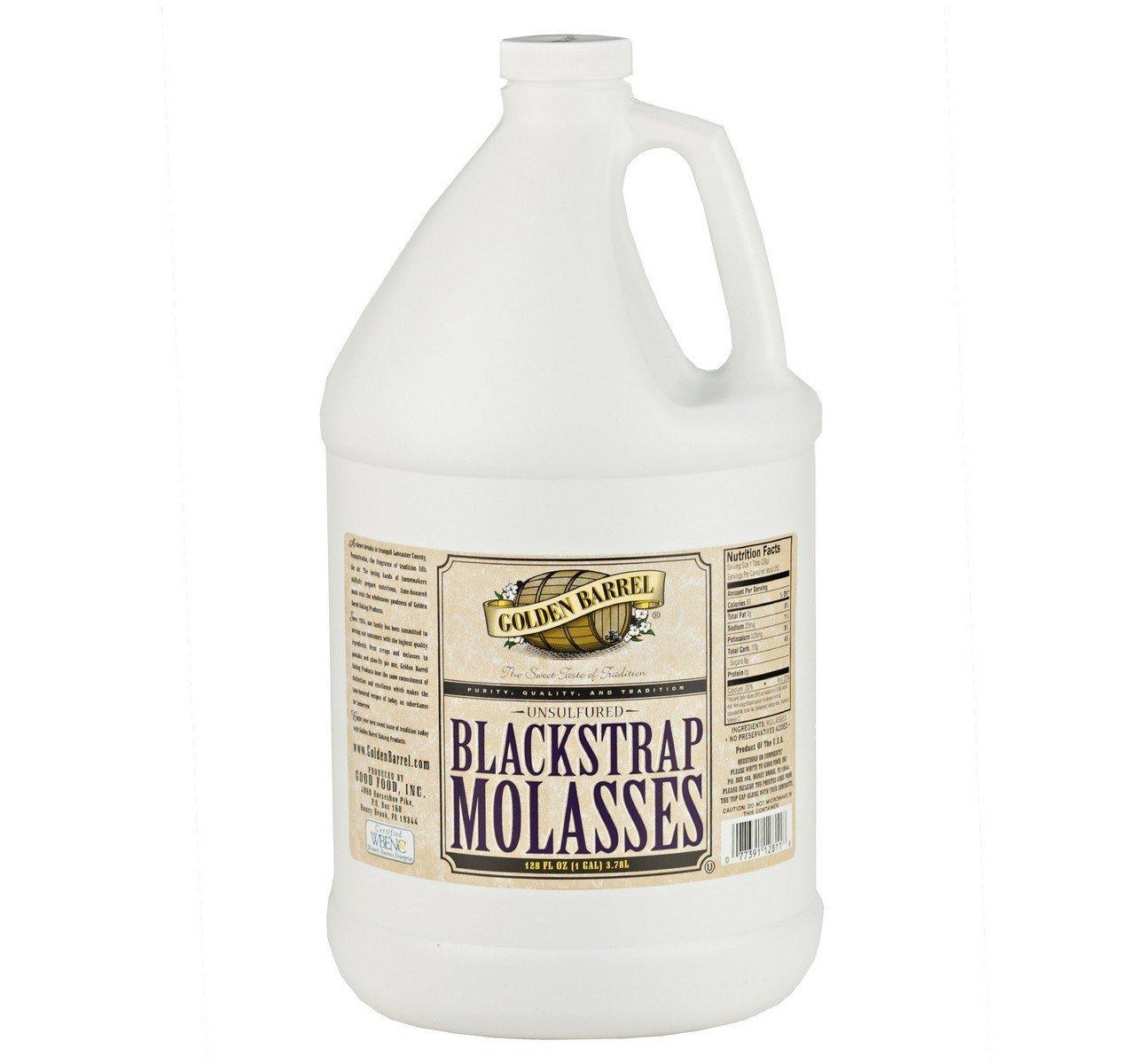 Golden Barrel Bulk Unsulfured Black Strap Molasses, 1 Gallon Jug (Pack of 2) by Golden Barrel