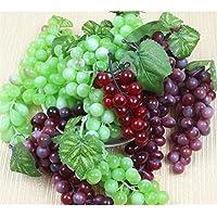 Sunnyshinee artificielle réaliste Grappe de raisin Vert Decor-22grains