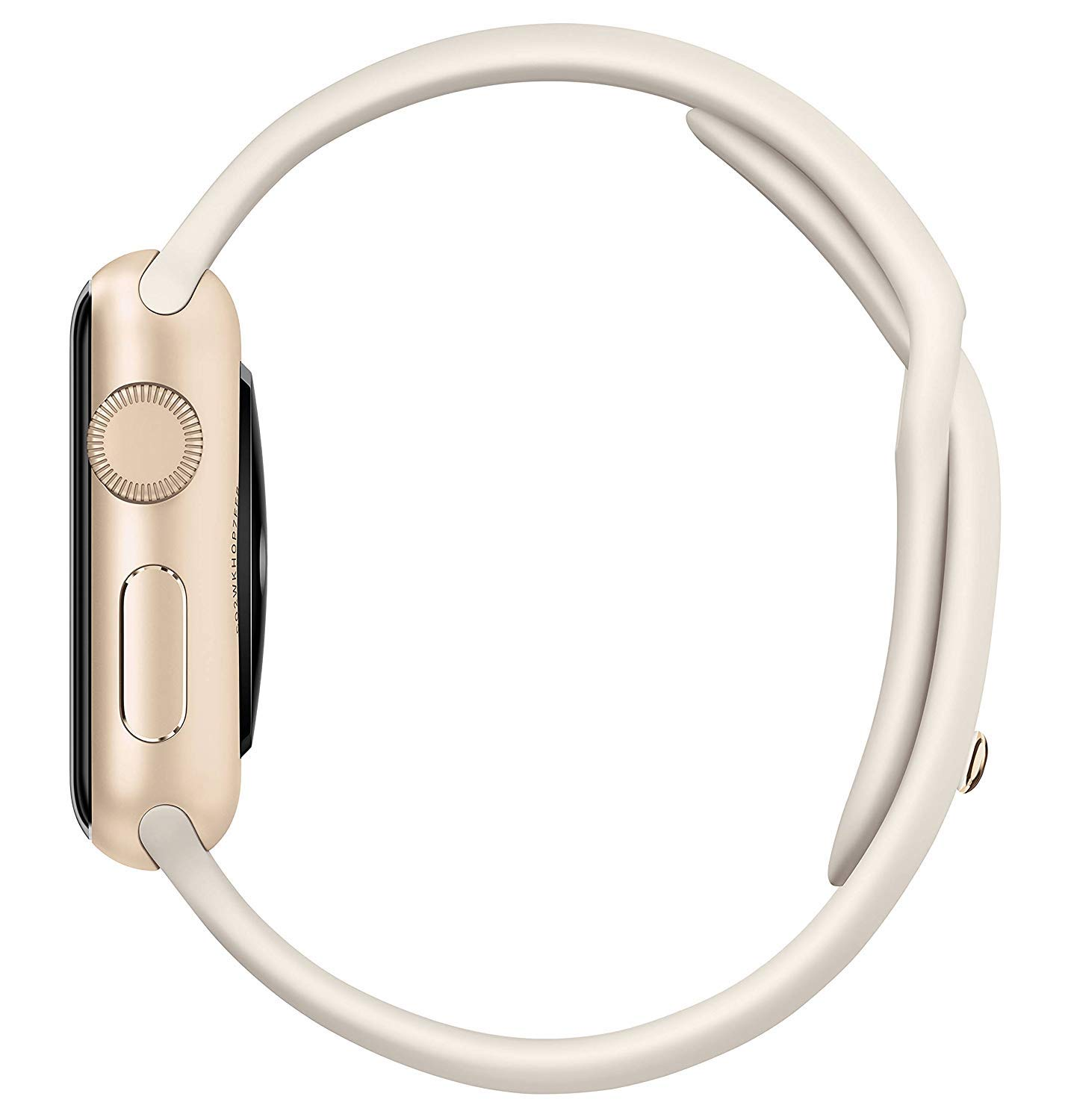 Apple Watch Series 1 Smartwatch 38mm Gold Aluminum Case, White Sport Band (Renewed) by Apple (Image #3)