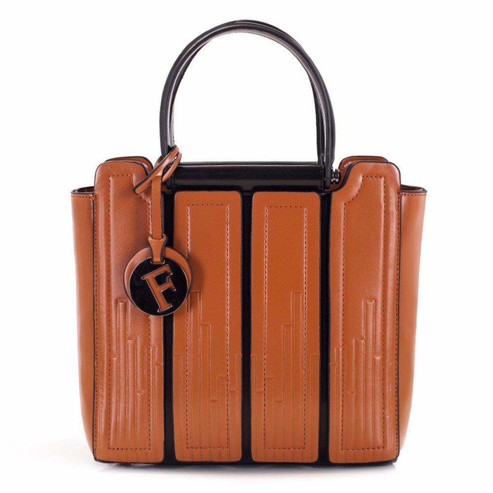 GQFGYYL handtaschen, modische Frauen Taschen, Taschen, Taschen, einheitlichen Schultertaschen, Wirkung von Farbe, einfache umhängetasche,braun B07H7KT6LP Henkeltaschen Praktisch und wirtschaftlich 5ccba0