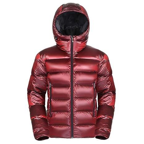 down jacket Chaqueta De Abajo De Los Hombres_Ligero Encapuchado Abrigo De Ganso Empacable Bolso Una Chaqueta