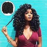Alivovo 8 Inch Jumpy Wand Curl Braids Hair 4 Packs/Lot 20 Roots Jamaican Bounce Crochet Twist Braids Sensational African Collection Braiding Hair 110g