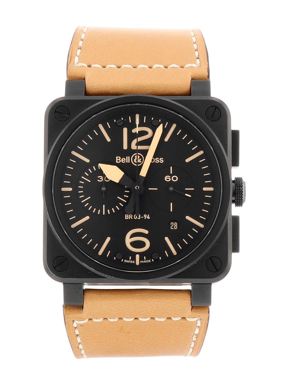 [ベル&ロス] BELL&ROSS 腕時計 BR03-94-HERITAGE ヘリテージ クロノグラフ SS(PVD)/ブラウンレザー 自動巻き [中古品] [並行輸入品] B077HNDVLH