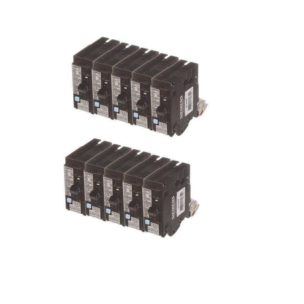 20 Amp Single Pole Dual Function Circuit Breakers (10 Pack) Siemens BUNQDF10