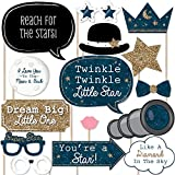 Twinkle Twinkle Little Star - Baby Shower or Birthday Photo Booth Props Kit - 20 Count