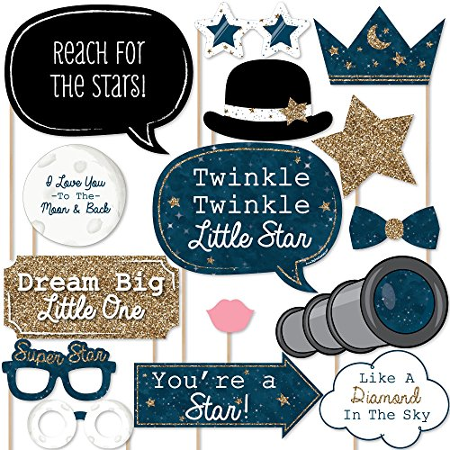 Twinkle Twinkle Little Star - Baby Shower or Birthday Photo Booth Props Kit - 20 Count by Big Dot of Happiness