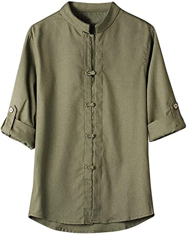Blusa De Lino para De Kung Hombre Camisa Fu Mode De Marca De ...