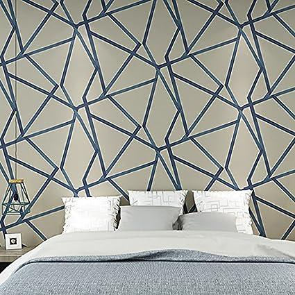 Moderno minimalista geométrica patrón línea dormitorio sala de estar papel pintado papel pintado no tejido –