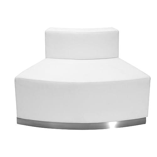 Flash Furniture HERCULES Alon Series Melrose White Leather Convex Chair