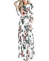 HOOYON Women's Casual Floral Printed Long Maxi...
