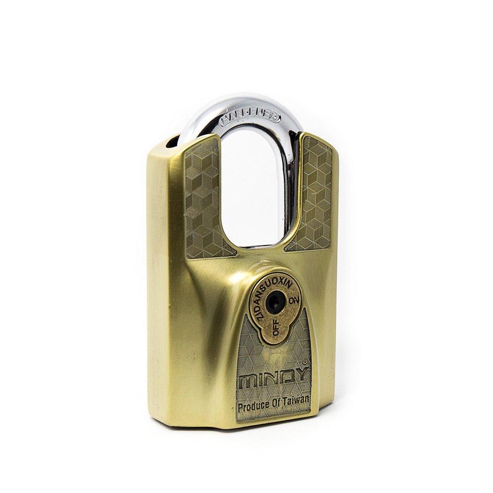 Mindy Lock with Keys Zinc Alloy Keyed Different Padlock,1-Pack, AF12-60
