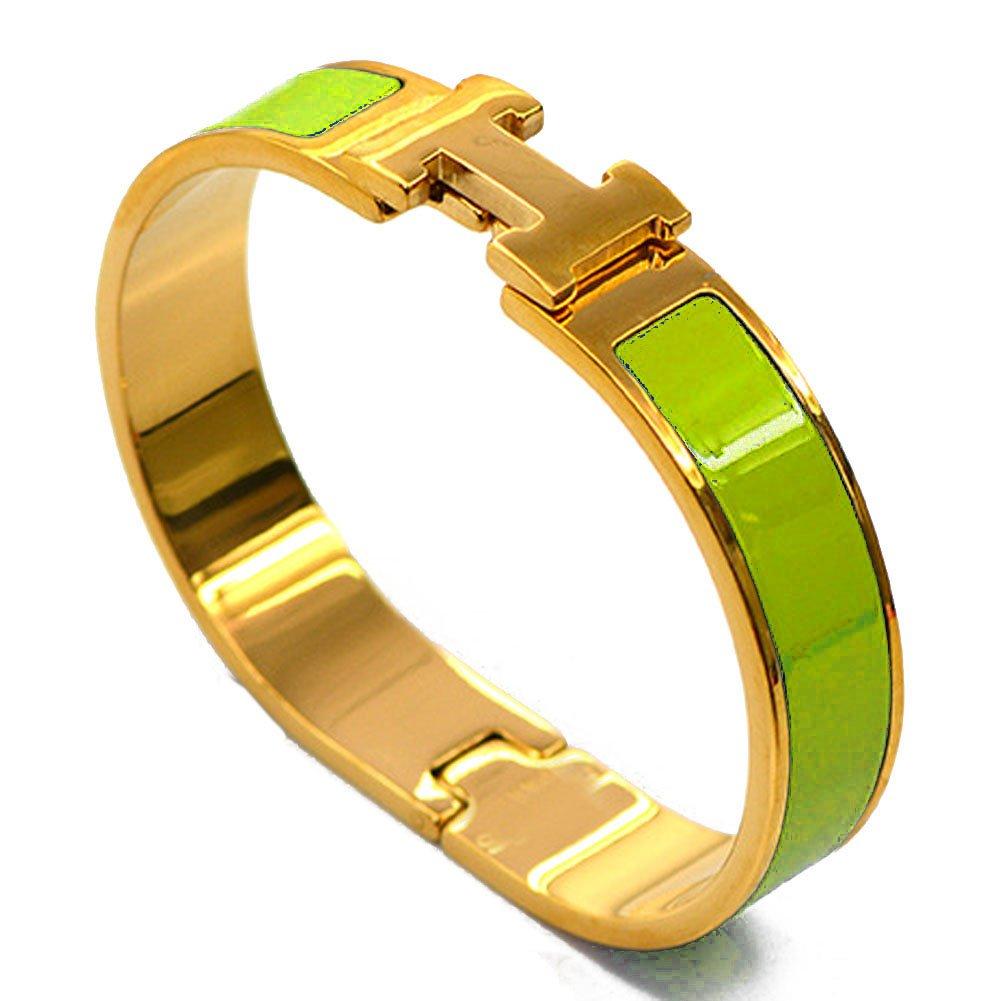 バックルバングルブレスレット。 B00WQC929K 12mm-gold/Green 12mm-gold/Green