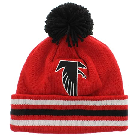 4e4743102a6 Image Unavailable. Image not available for. Color  Mitchell   Ness NFL  Atlanta Falcons Vintage Cuffed Pom Knit Beanie