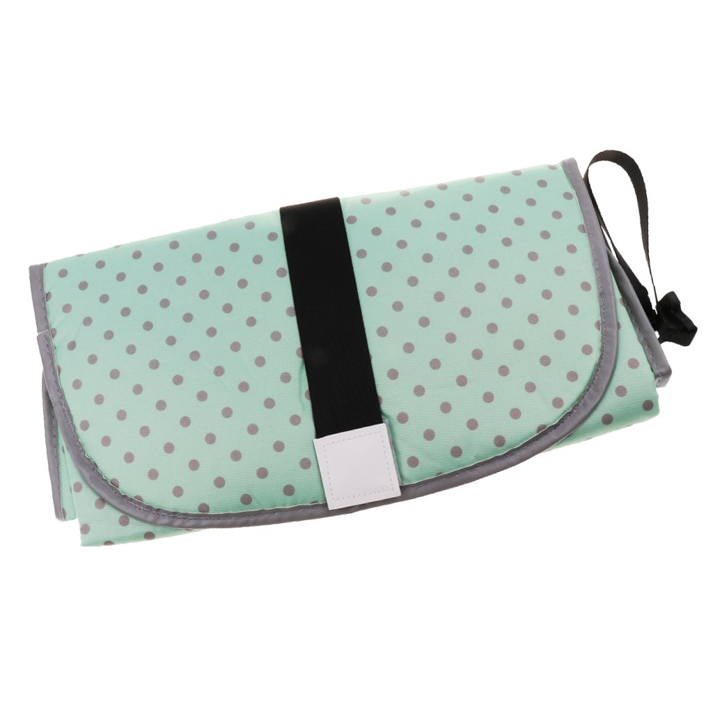 Baoblaze Baby Portable Clean Hands Changing Pad 3-in-1 Diaper Clutch Changing Station - Green, as described