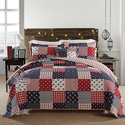red white and blue queen quilts - 5