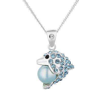 FIVE-D Kinder Ohrringe Kristall Delphin 925 Sterling Silber im Schmucketui