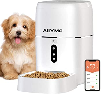 8.AIIYME Food Dispenser Dog Cat Feeder, Wi-Fi Enabled APP with Voice Recorder