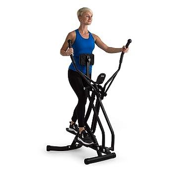 Klarfit Bogera X Máquina de Correr elíptica con Ordenador • Bicicleta elíptica • Pantalla LCD •