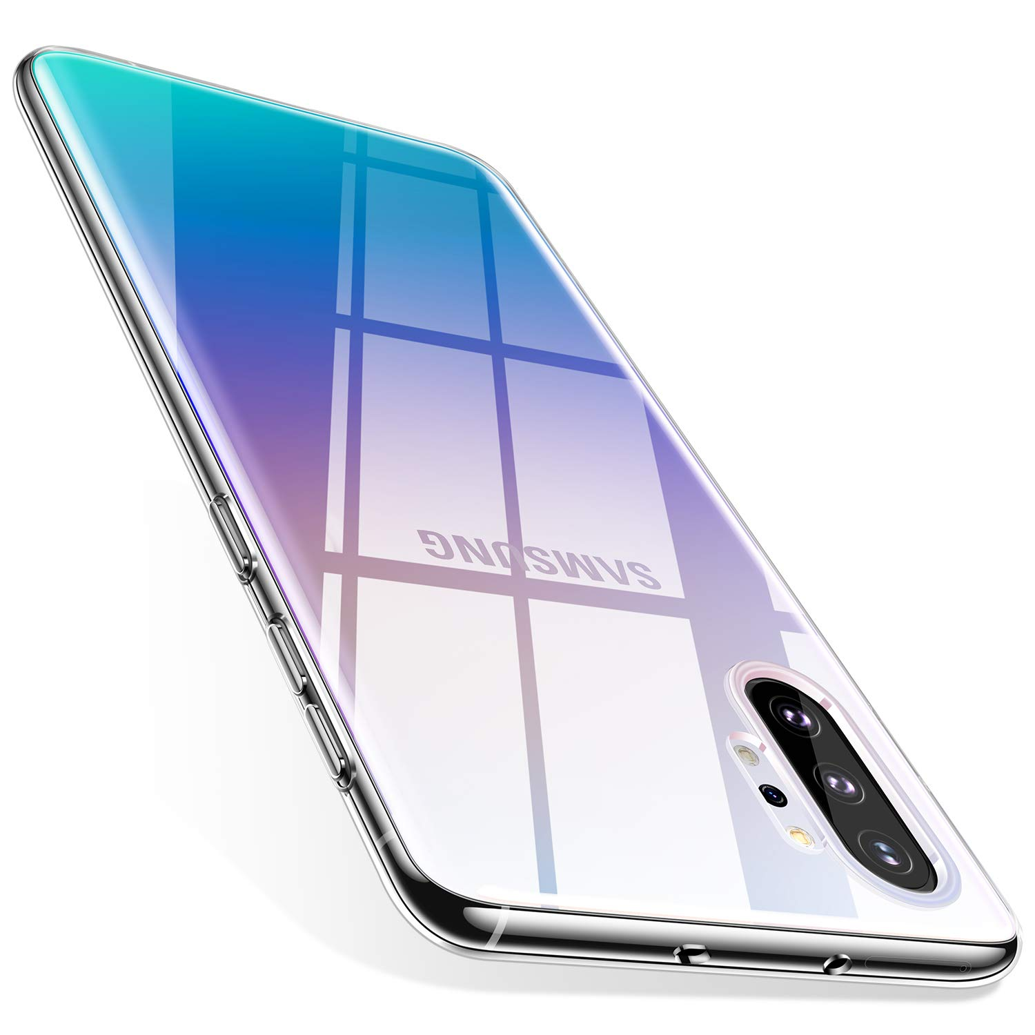 TORRAS Galaxy Note 10 Plus Case/Galaxy Note 10 Plus 5G Case Crystal Clear Ultra-Thin Slim Fit Soft TPU Cover Compatible with Samsung Galaxy Note 10 Plus 6.8 inch, Clear by TORRAS