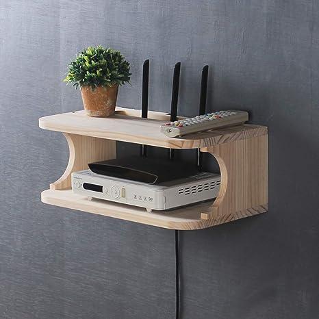Mensola Porta Tv In Legno Massello.Mensola Porta Tv A Parete In Legno Massello Router Set Top