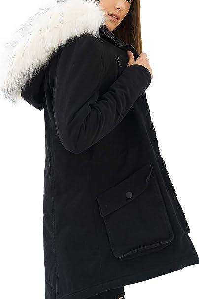 trueprodigy Casual Mujer Marca Chaqueta Parka Militar Ropa Retro Vintage  Rock Vestir Moda con Capucha Deportivo Slim Fit Designer Cool Urban Fashion  Jacket  ... 858957376eb33