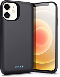 Battery Case for iPhone 12 Mini (5.4inch), [5800mAh] Portable Protective Charging Case Extended Battery Pack for Apple iPhone 12 Mini Rechargeable Slim Charger Case (Black)