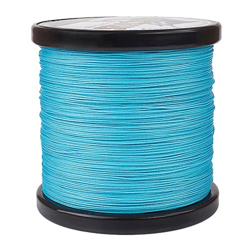 Class 150 Cast - Hercules Braided Fishing Line 500m 547yds 10lbs-300lbs Pe Dyneema Superline 8 Strands (Blue 150lb/68kg 0.62mm)