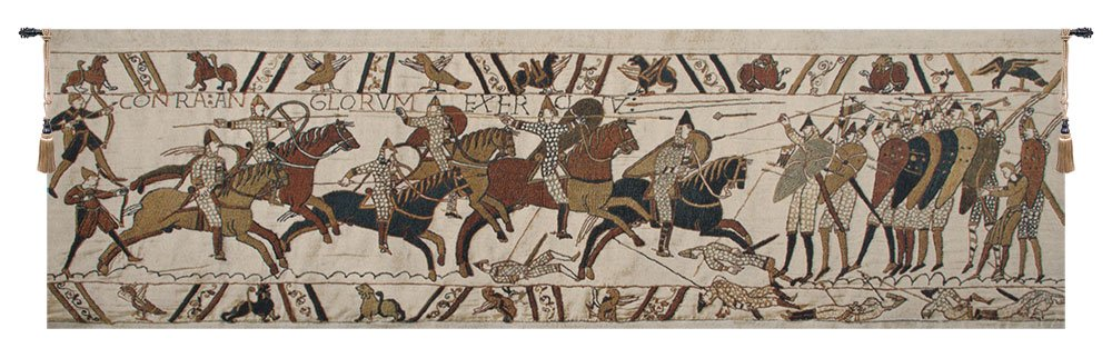 Home Furnishings, Battle of Hastings II, Belgian Tapestry Wall Hanging, Wall Art Decor, 58 by 16 Inch