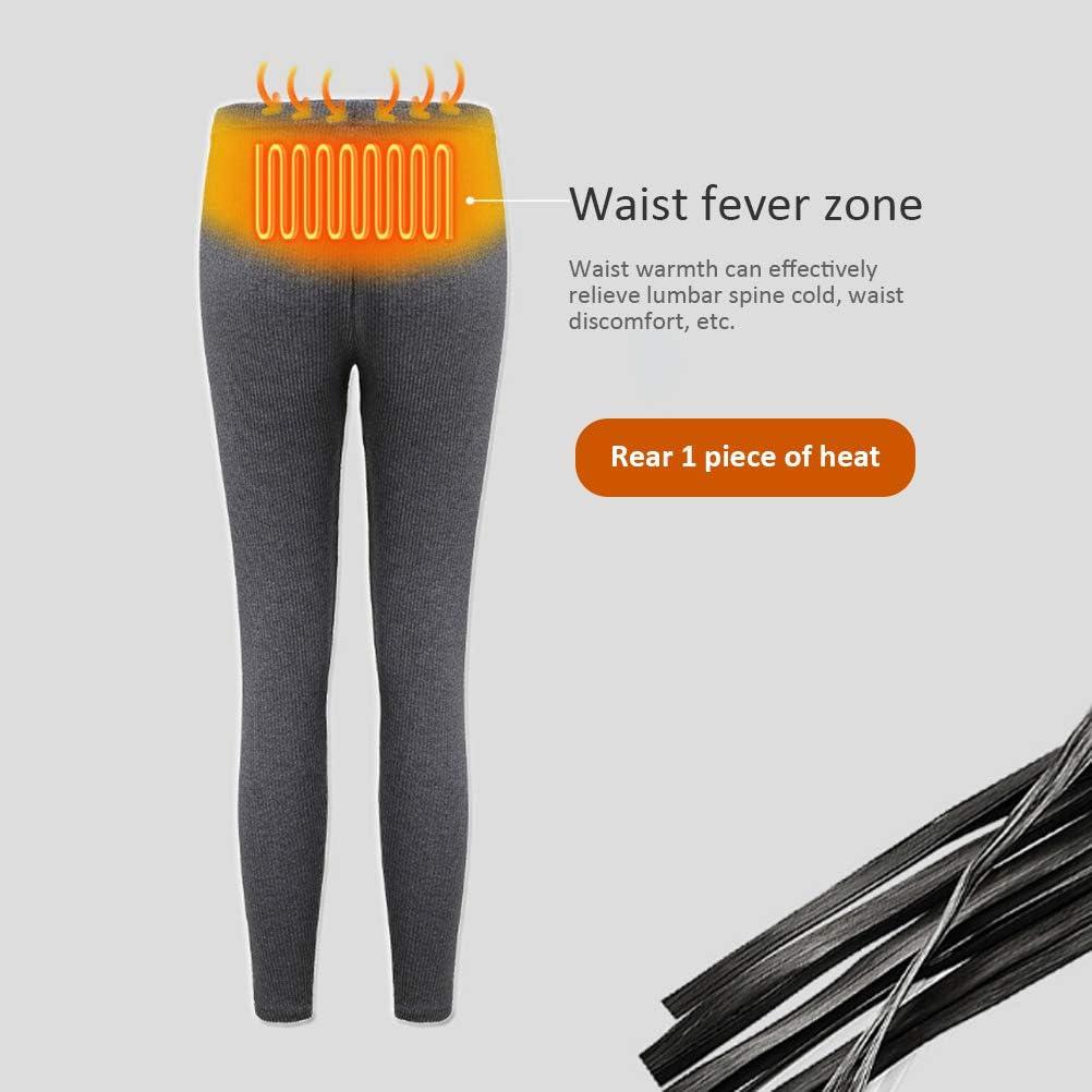 pantalones con calefacci/ón Pantalones con aislamiento recargable para mujeres Pantalones de capa con calefacci/ón ajustados de corte slim pantalones c/álidos Pantalones de capa base con calefacci/ón