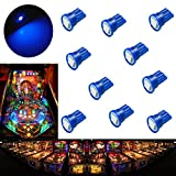 PA 10PCS #555 T10 1SMD LED Wedge Pinball Machine Light Top View Bulb Blue-6.3V